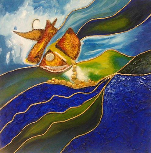 Cuadro titulado, Barco a la deriva de Leonardo