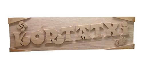 Talla de madera para el caserío Kortatxi