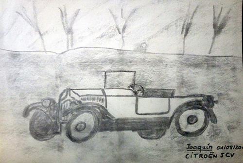 Dibujo de un coche Citroën SCV de Joaquín