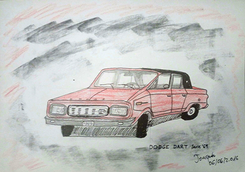 Dibujo de un coche modelo Dodge Dart de Joaquín