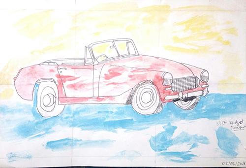 Dibujo de un coche de Joaquín