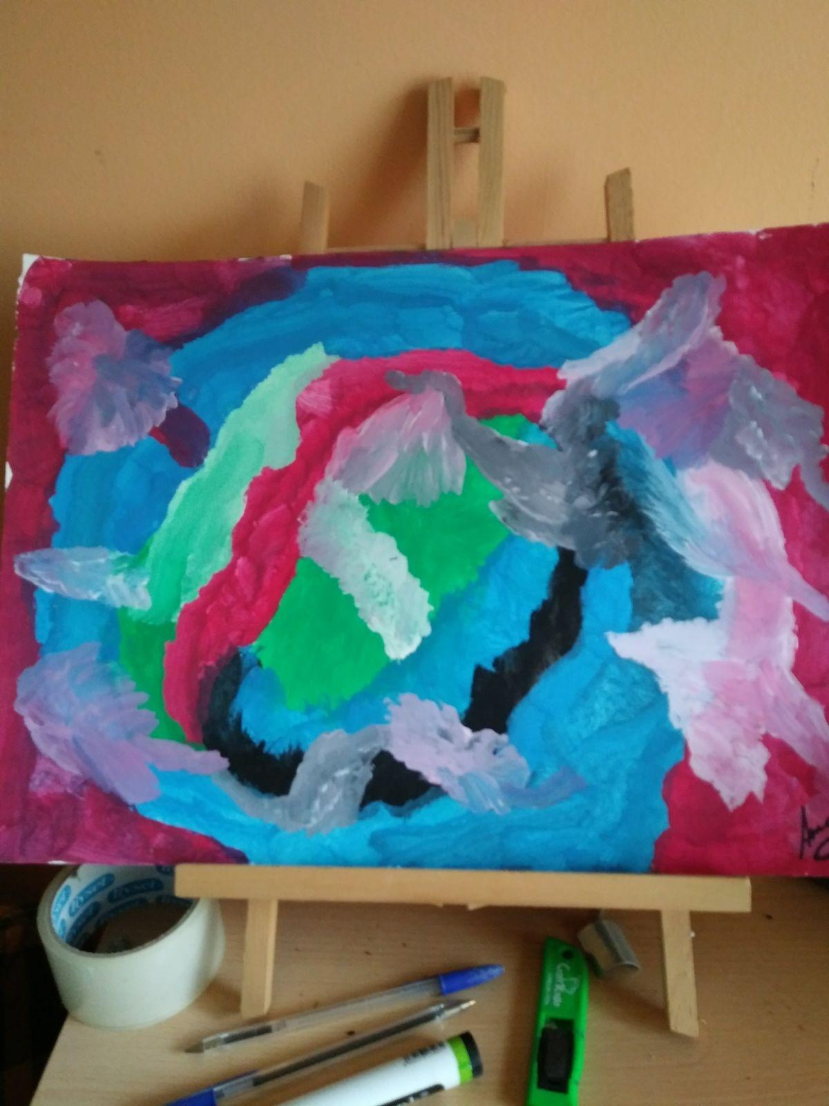 Cuadro titulado Sal al mundo de Amaia
