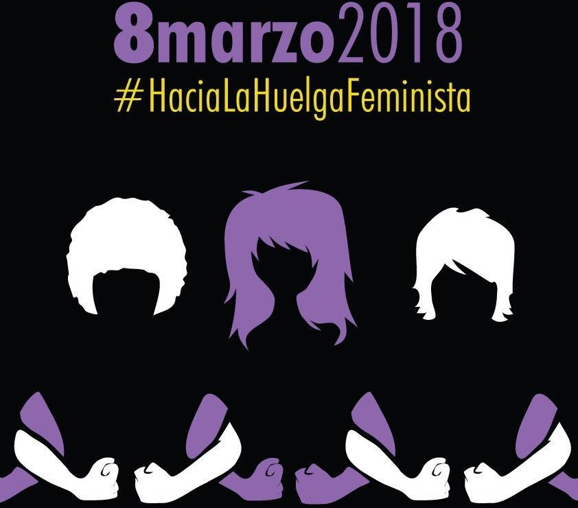 Cartel sobre la huelga feminista