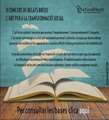 Cartel de la presente edición del Concurs de relats breus ActivaMent