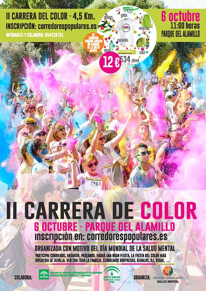 Cartel de la carrera del color FEAFES Andalucía