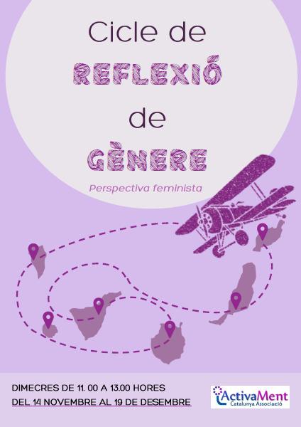 Cartel del Ciclo de reflexión de género