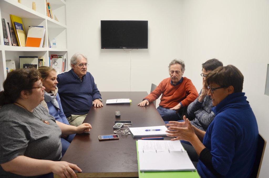De iquierda a derecha: Uxua Conesa, Sofía Pérez de Zabalza, Mikel Valverde, José Antonio Inchauspe, Sergio Iribarren y CG Aguayo