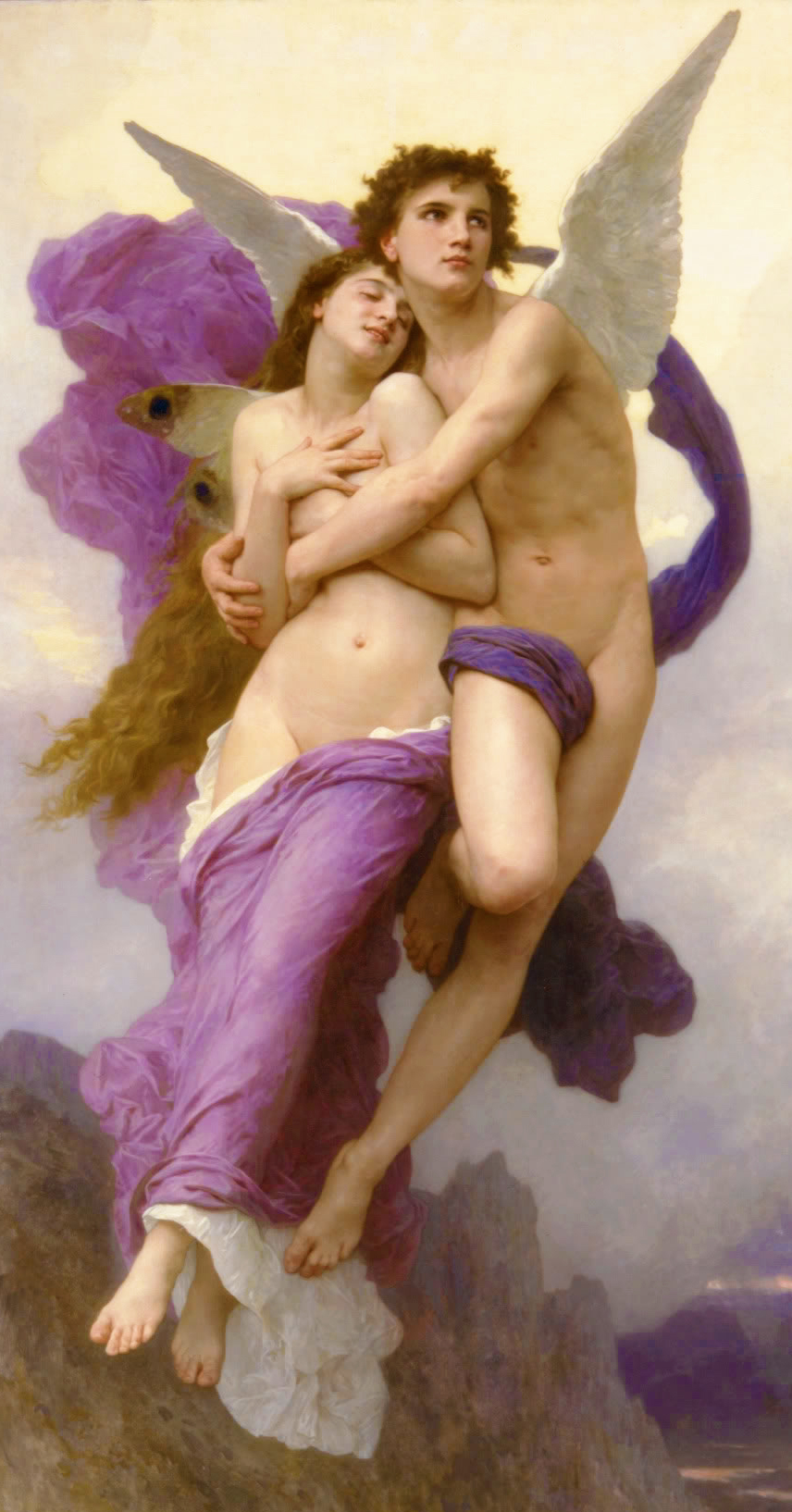 Cuadro del Rapto de Psyché, de William-Adollphe Bouguereau