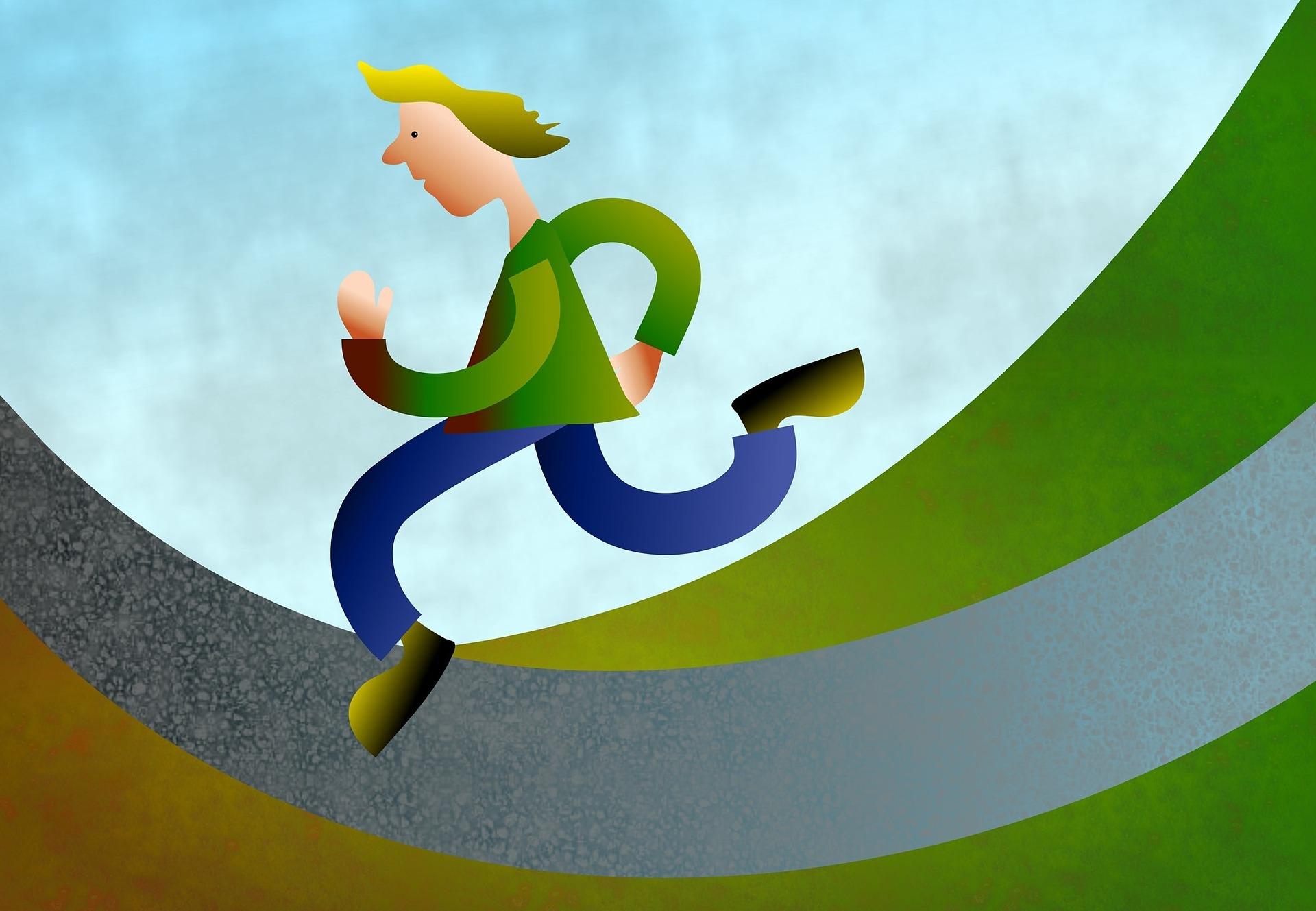Ilustración de un hombre corriendo