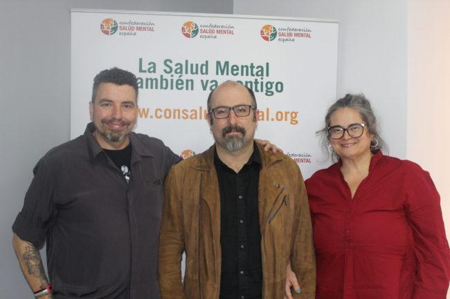 Basilio García Copín (centro), junto a José Luis Herrera y María Isabel García Peña.
