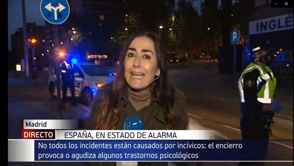 Instantánea del informativo de Telecinco donde se estigmatiza a las personas con problemas de salud mental